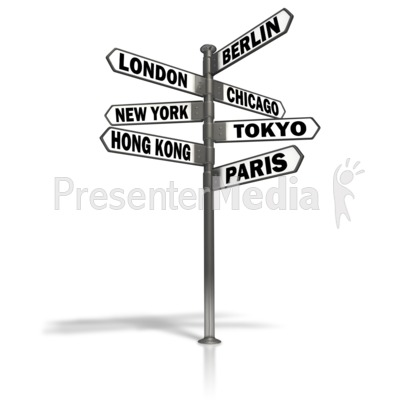 Travel signs clipart image royalty free library Street Sign World Cities - Signs and Symbols - Great Clipart ... image royalty free library