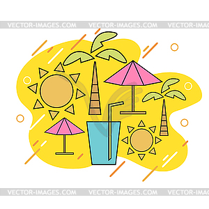 Travel signs clipart graphic black and white stock Summer with linear icons and signs travel and - vector clipart graphic black and white stock