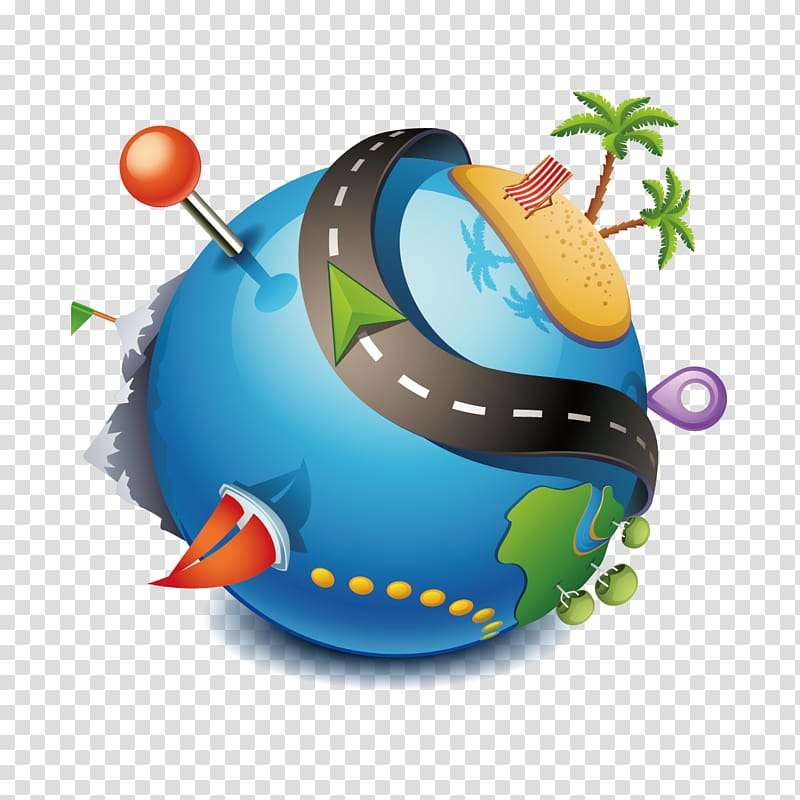 Planet earth illustration, Package tour Travel Agent Icon ... royalty free stock