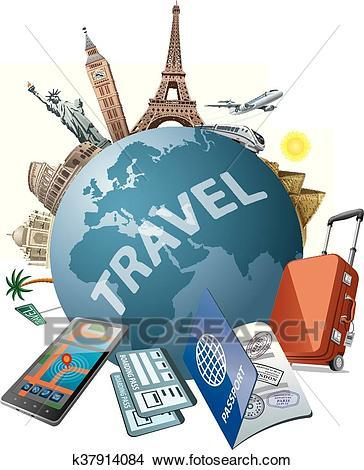 Traveling around the world clipart 3 » Clipart Portal banner transparent