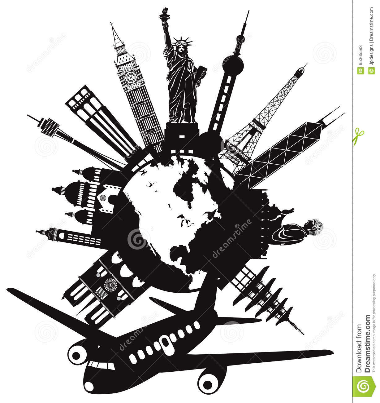 Traveling clipart black and white clipart freeuse library Travel clipart black and white 5 » Clipart Station clipart freeuse library