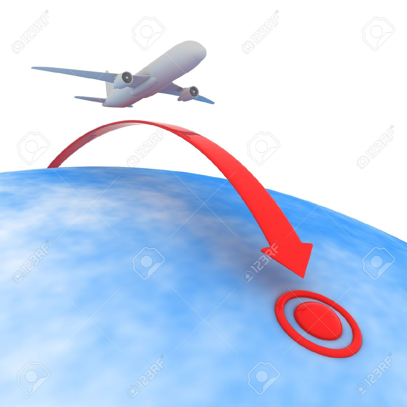 Traveling plane destination clipart jpg freeuse Airplane Flying To The Point Of Destination Stock Photo, Picture ... jpg freeuse