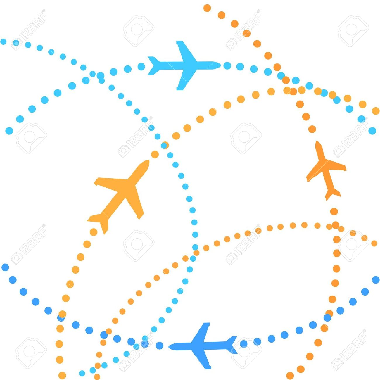 Traveling plane destination clipart clip Airplanes On Their Destination Routes Stock Photo, Picture And ... clip