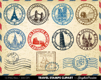 Traving stamp clipart air plance vector library library Free Vintage Travel Cliparts, Download Free Clip Art, Free ... vector library library