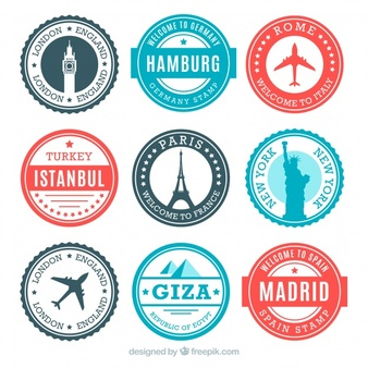 Traving stamp clipart air plance image download Travel Stamps Vectors, Photos and PSD files   Free Download image download