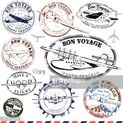 Traving stamp clipart air plance picture royalty free Vintage Airplane Travel Stamps premium clipart - ClipartLogo.com picture royalty free
