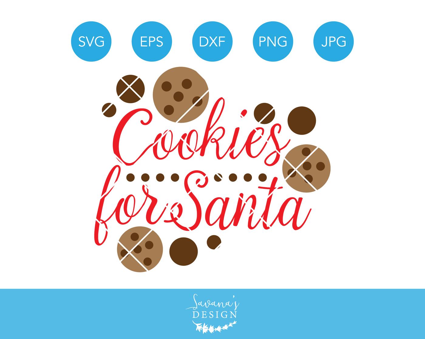 Tray of cookies clipart svg royalty free Cookies for Santa SVG, SVG File, SVG Download, Santa Svg ... svg royalty free