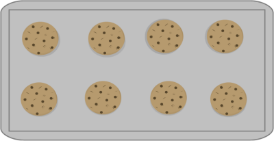 Tray of cookies clipart clip transparent library Cookies on a Cookie Sheet | Play Food Crochet Felt Foam ... clip transparent library