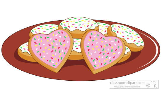 Tray of cookies clipart image freeuse library Dessert clipart plate with heart shaped sugar cookies ... image freeuse library