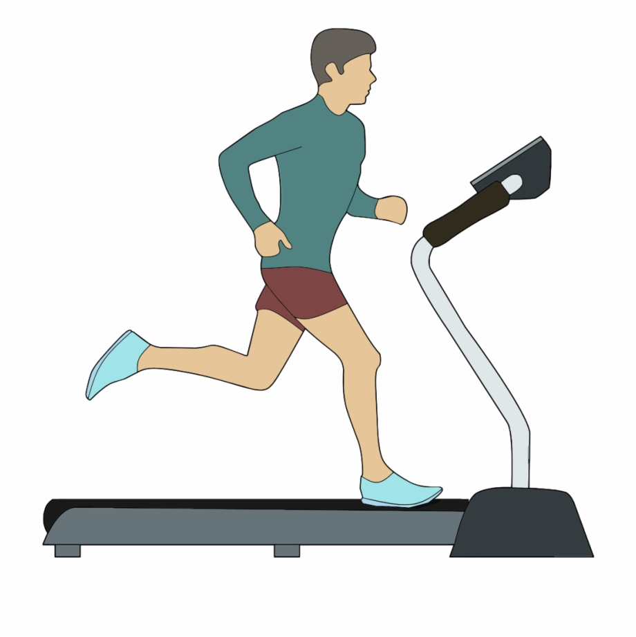 Onlinelabels Clip Art - Walking On Treadmill Clipart Free ... png freeuse library