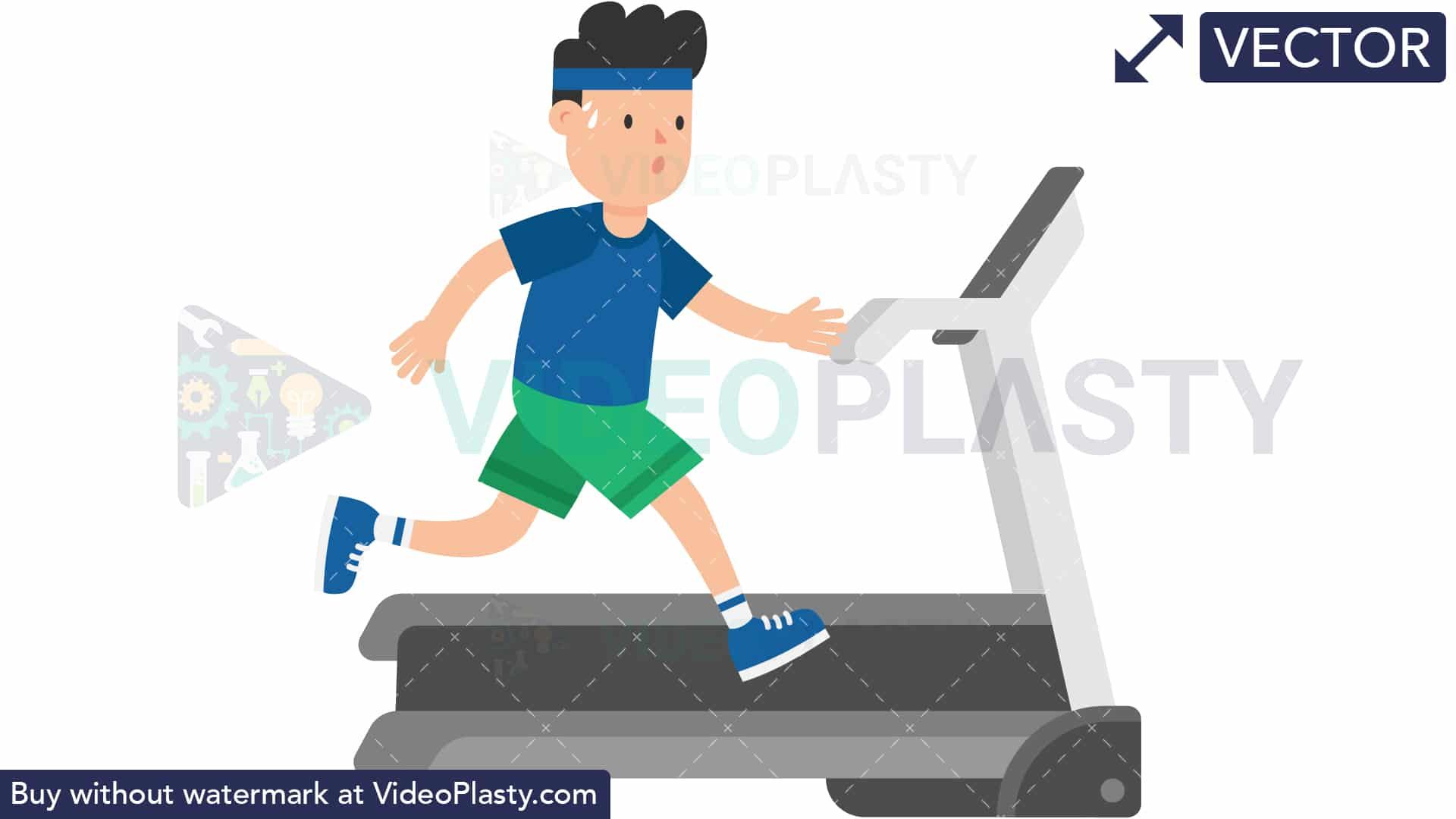 Man on a Treadmill [VECTOR] svg royalty free stock