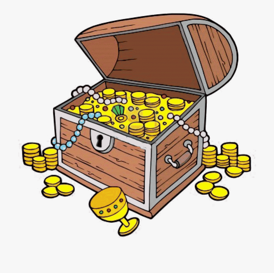 Treasure Clipart Treasure Chest Clip Art With Coins ... svg library library
