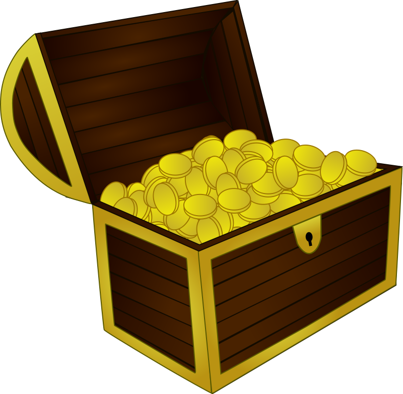 Free treasure chest clipart the cliparts - Clipartix vector library library