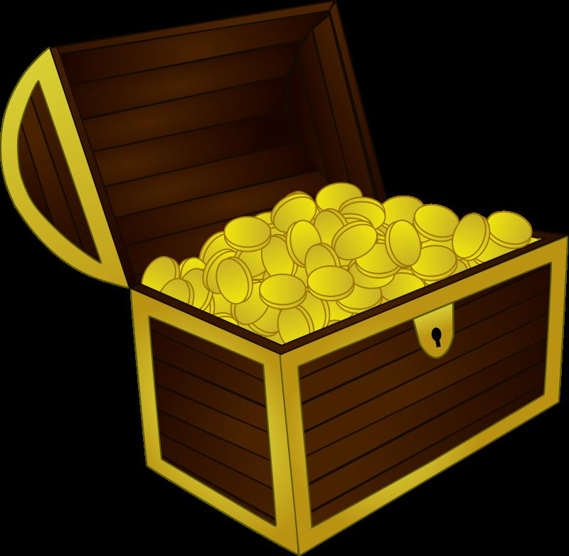 Treasure chest clipart no background vector library library Free treasure chest clipart the cliparts - Clipartix vector library library