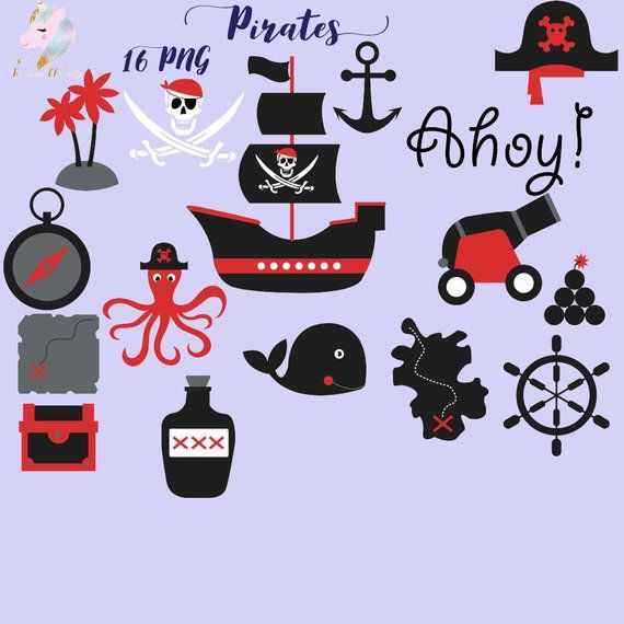 Treasury clipart banner black and white library Pirates clipart, pirate clip art, sailing ship, skull ... banner black and white library