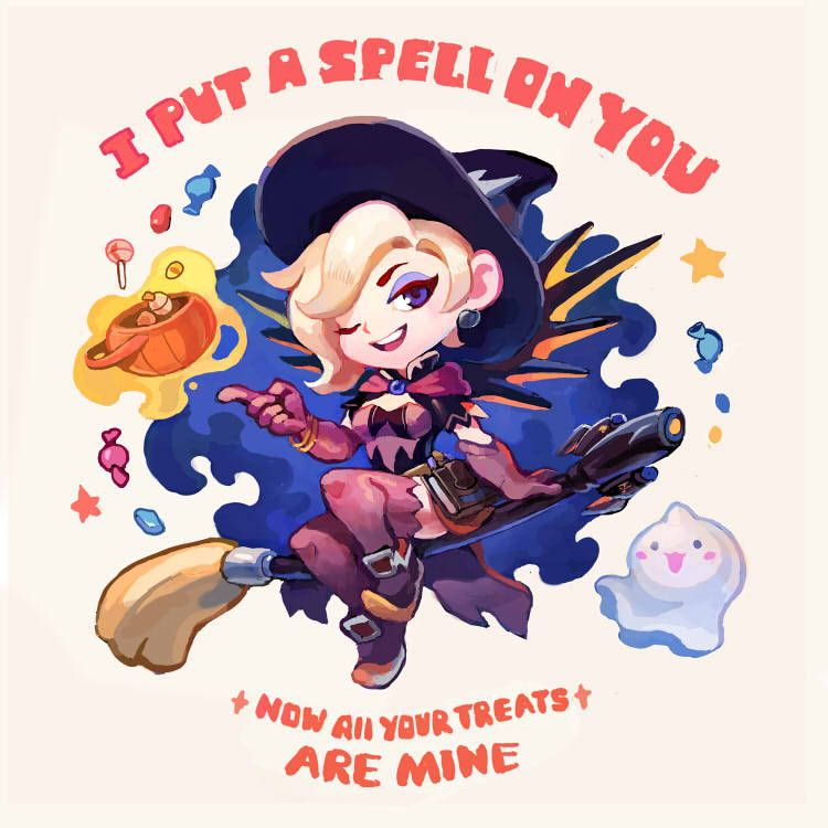 Mercy trick or treat by TOO-MUCH-GREEN   Mercy Overwatch ... black and white download