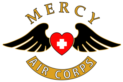 Mercy Air Corps   Angel Flight: Survivor helps fellow cancer ... picture black and white stock