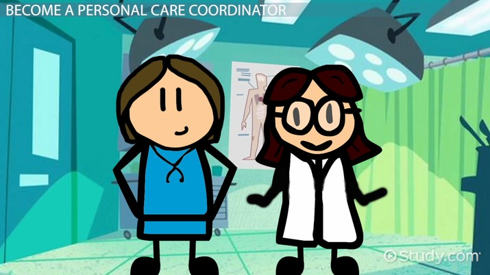 Treatment plan coordinator clipart graphic How to Become a Personal Care Coordinator graphic