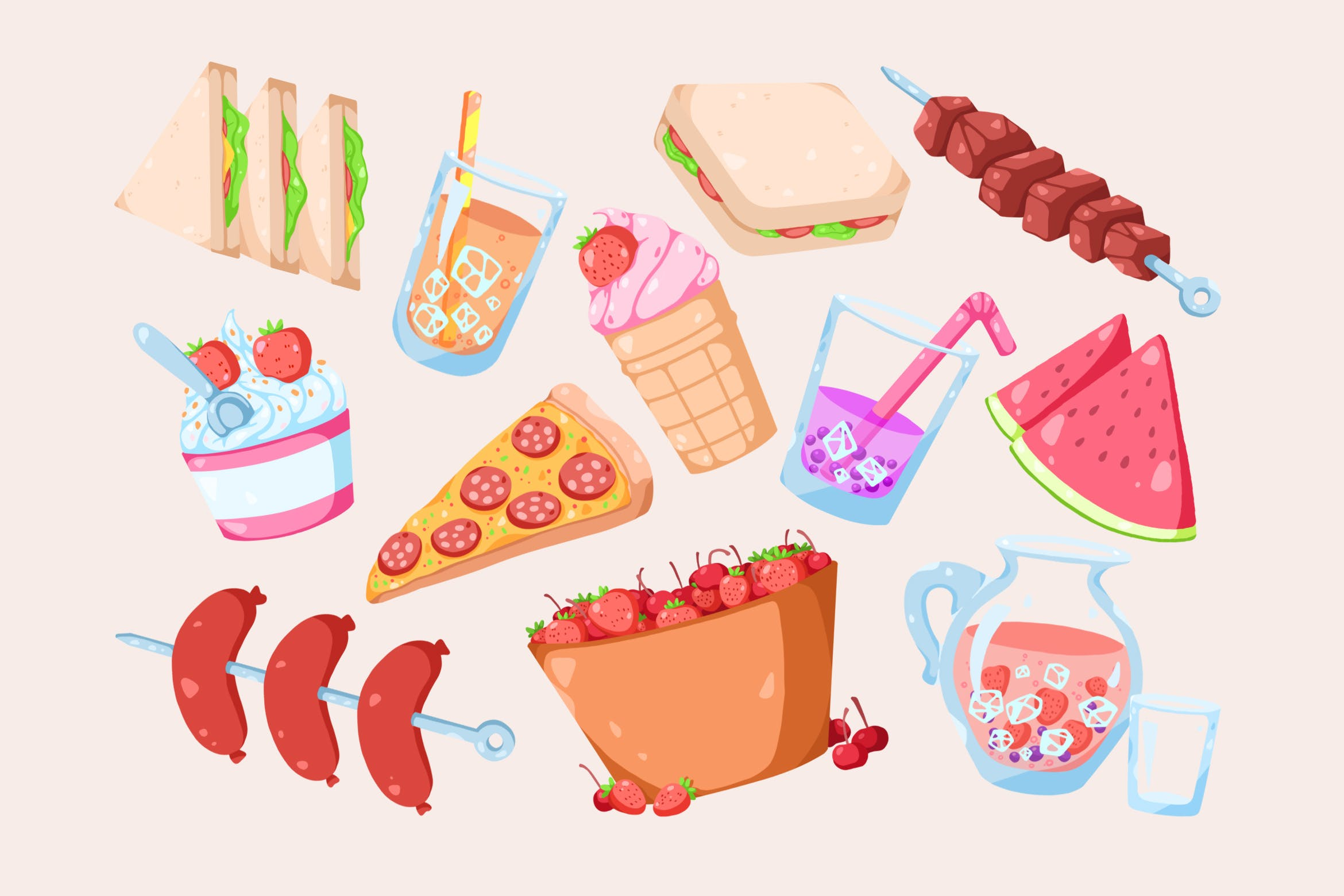 Treats images clipart clipart freeuse stock Summer Treats Clipart by Jumsoft on Envato Elements clipart freeuse stock
