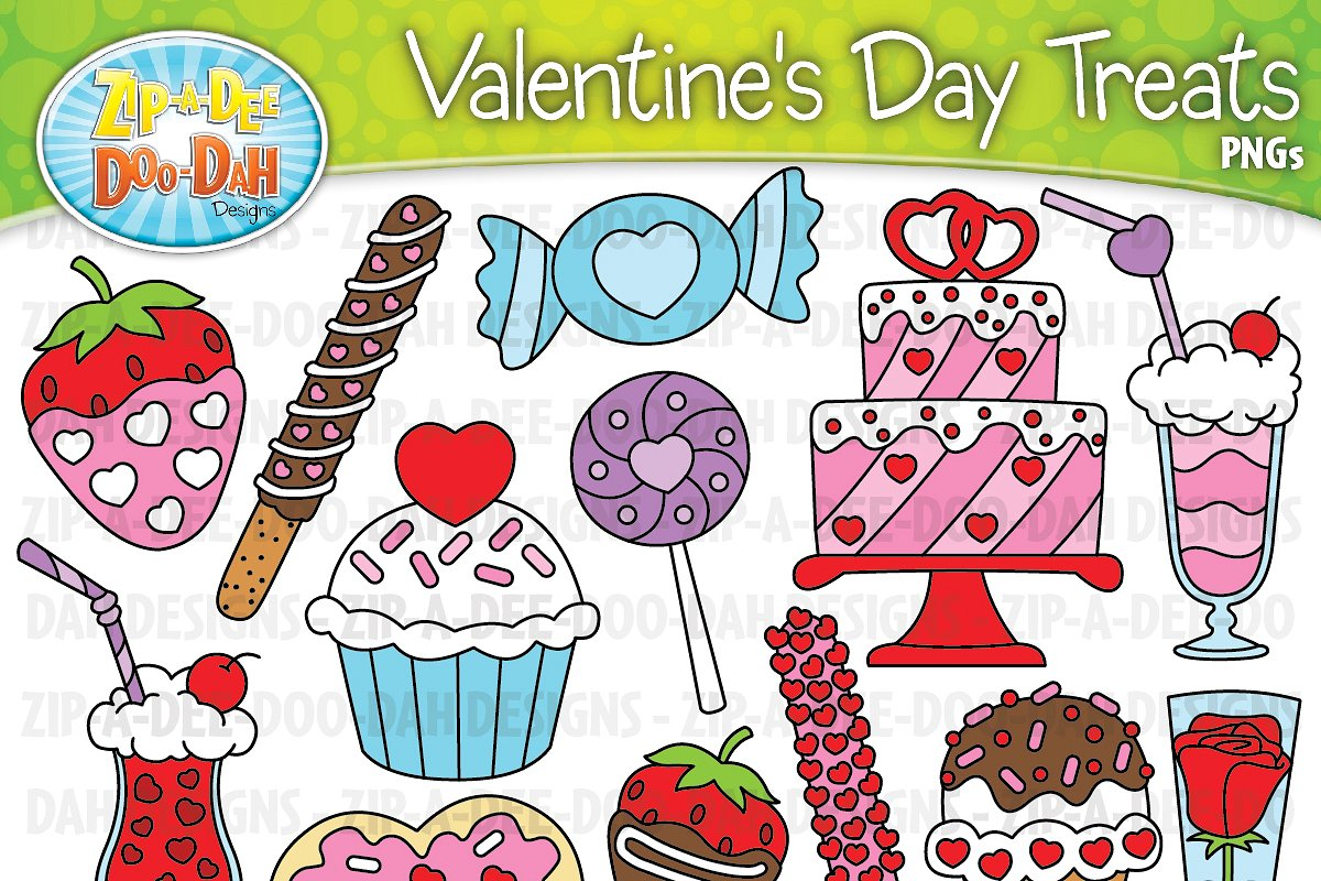Treats images clipart image library stock VDay Sweet Treats Clipart Set image library stock