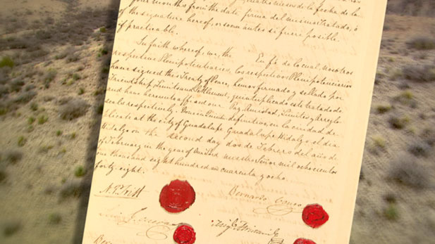 Treaty of guadalupe hidalgo clipart png royalty free stock Treaty of Guadalupe Hidalgo Goes On Tour - AZPM png royalty free stock