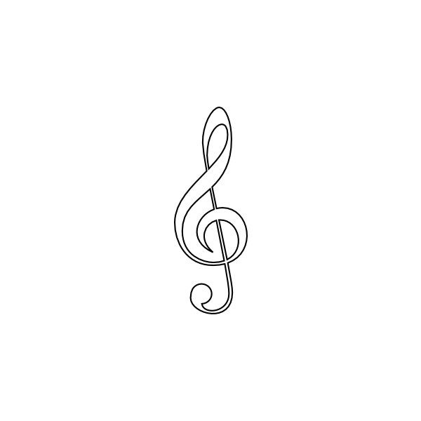 Treble clef clipart vector graphic transparent library Treble Clef clip art - vector clip art online, royalty free ... graphic transparent library