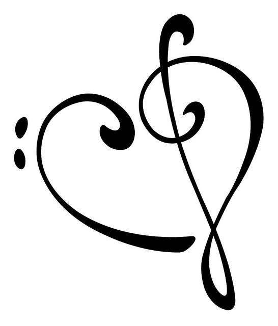 Bass Clef Treble Clef - ClipArt Best | stencils | Music ... banner black and white download