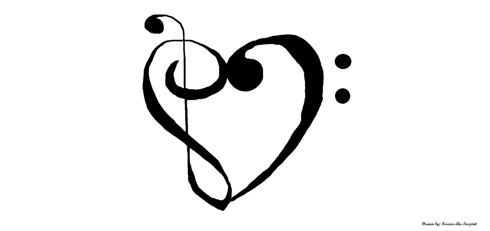 Treble Clef Bass Clef Heart Clipart - Treble And Bass Clef ... vector library library
