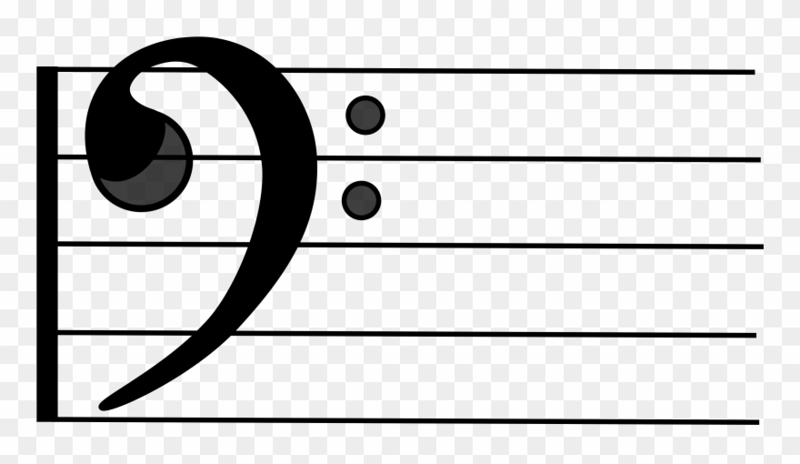 Clef Double Bass Treble Staff - Bass Clef On Staff Clipart ... graphic freeuse