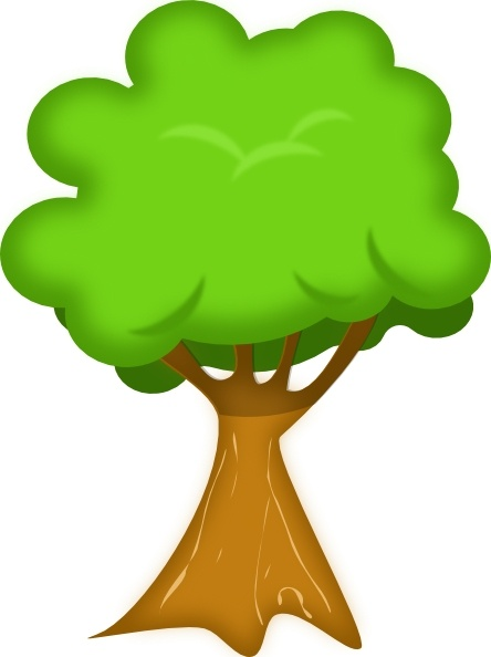 Tree 3d clipart image Soft Trees clip art Free vector in Open office drawing svg ... image