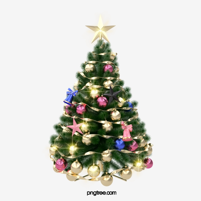 3d Christmas Tree, 3d, Grand Ceremony, Gift PNG Transparent ... clipart transparent library
