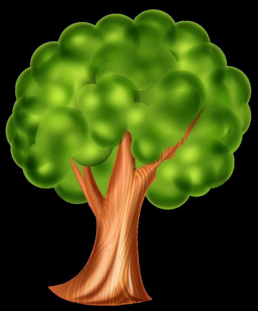 Tree 3d clipart free download Cartoon Tree PNG Clip Art 3d Effect free download