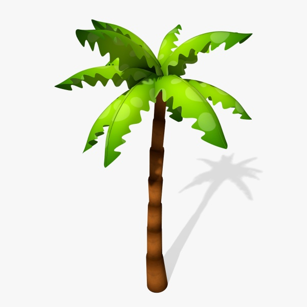 Cartoon Palm Tree 3D Model By Abramsdesign - Cliparts.co banner free