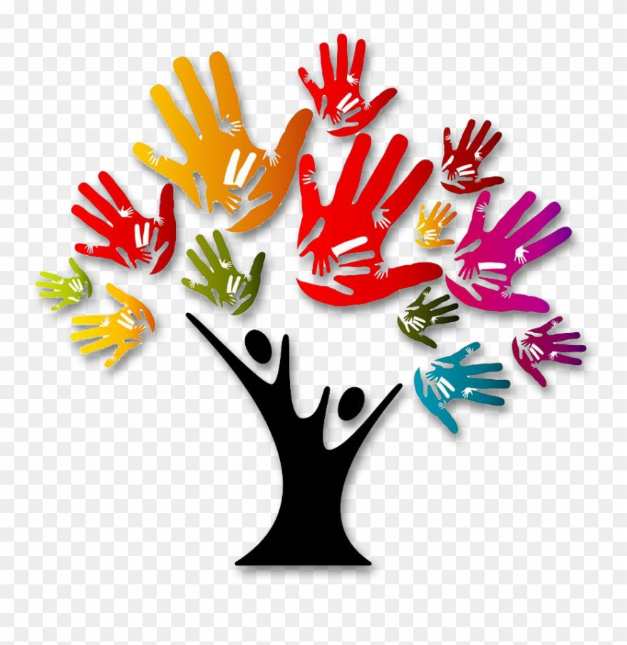 Tree and hands clipart