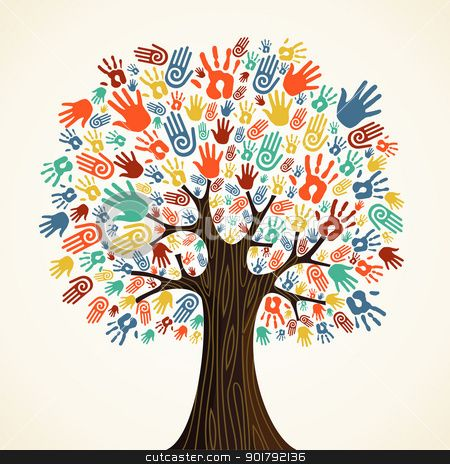 Tree and hands clipart image stock Isolated diversity tree hands | Clipart Panda - Free Clipart ... image stock