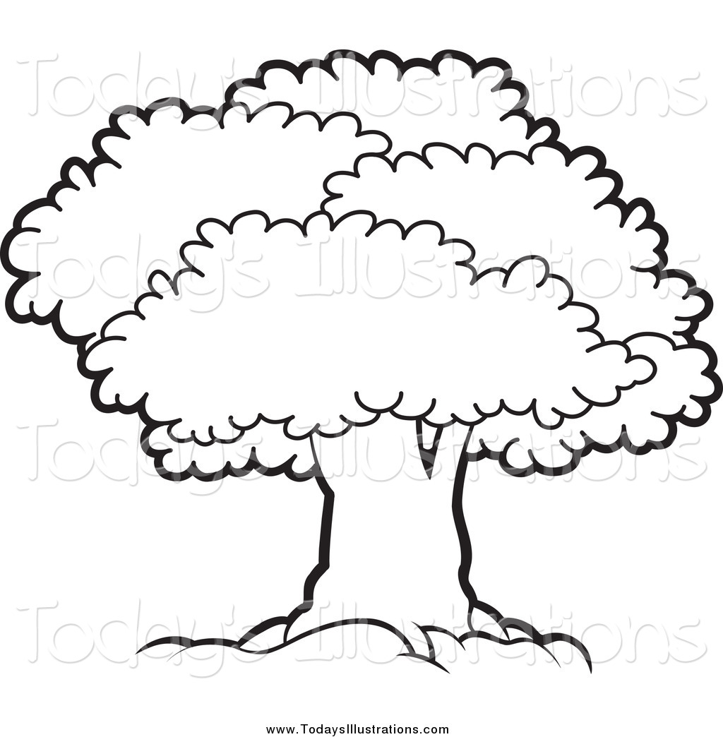 Best Tree Clipart Black And White #18957 - Clipartion.com picture library library