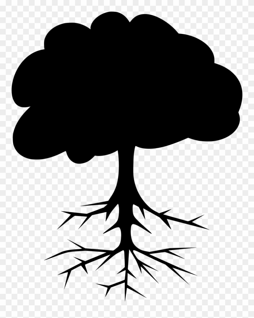 Tree black clipart clipart We Should Identify These Roots Of Our Life And Should - Tree ... clipart