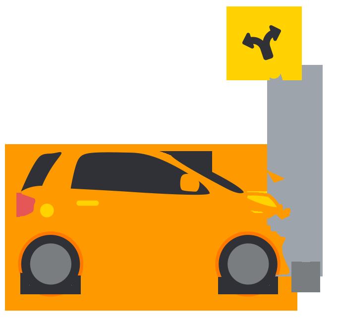 Tree car crash clipart image transparent stock Types of Car Accidents   Hecht, Kleeger & Damashek, P.C. image transparent stock