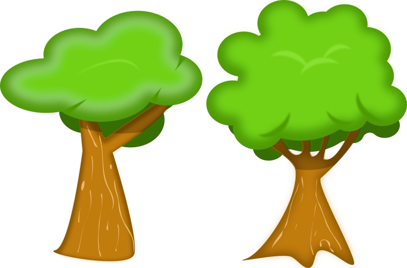 Tree cartoon clipart graphic freeuse Clipart - soft trees graphic freeuse
