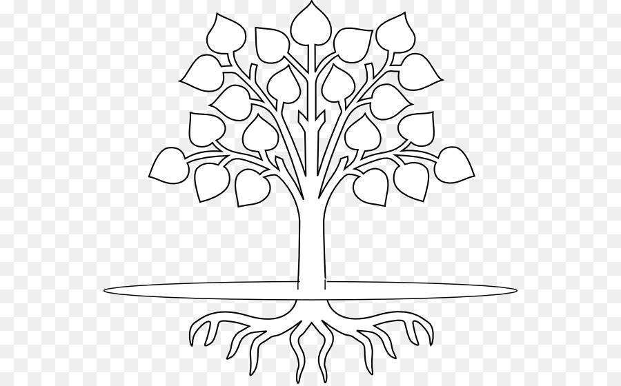 Tree clipart black and white with roots jpg transparent Tree with roots clipart black and white 5 » Clipart Station jpg transparent