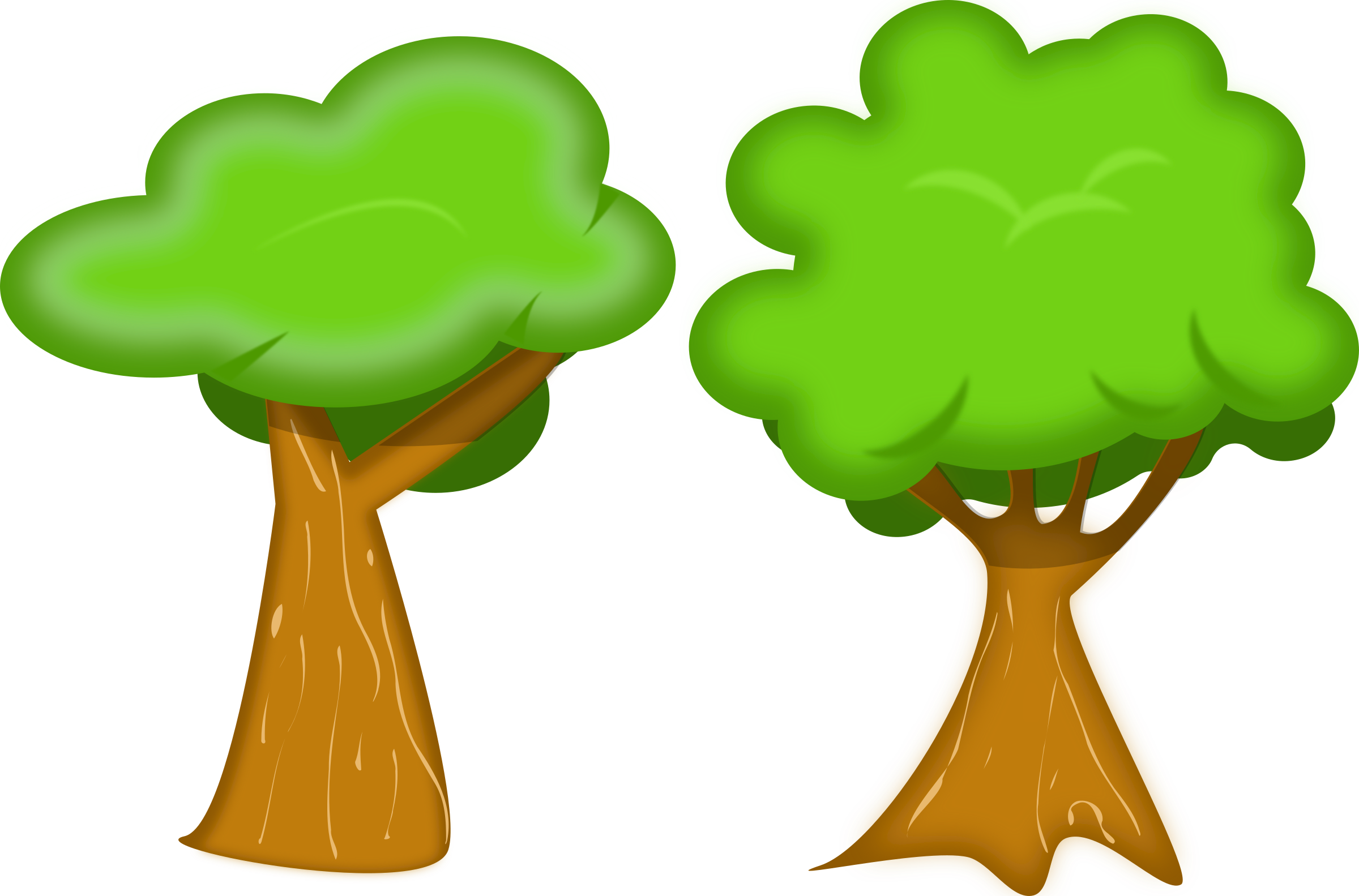Tree clipart cute vector royalty free stock Clipart - soft trees vector royalty free stock