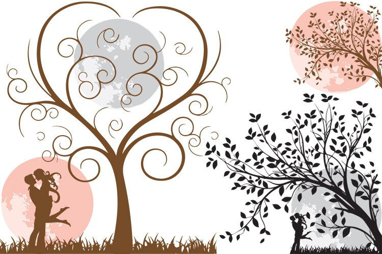 Tree clipart for wedding invitations png library download wedding clipart, save the date clipart, tree heart clipart ... png library download