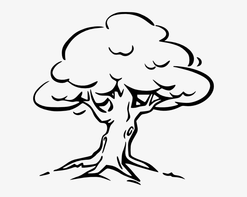 Tree Clip Art - Clip Art Black And White Tree Transparent ... clip royalty free library