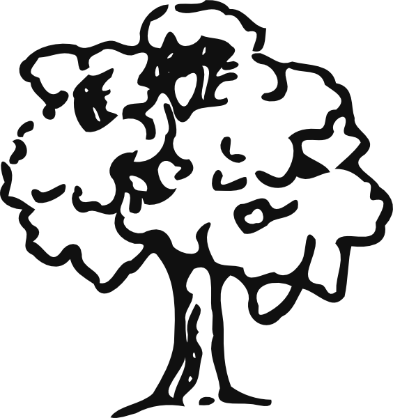 Tree outline clipart png stock Tree Outline Clip Art at Clker.com - vector clip art online, royalty ... png stock