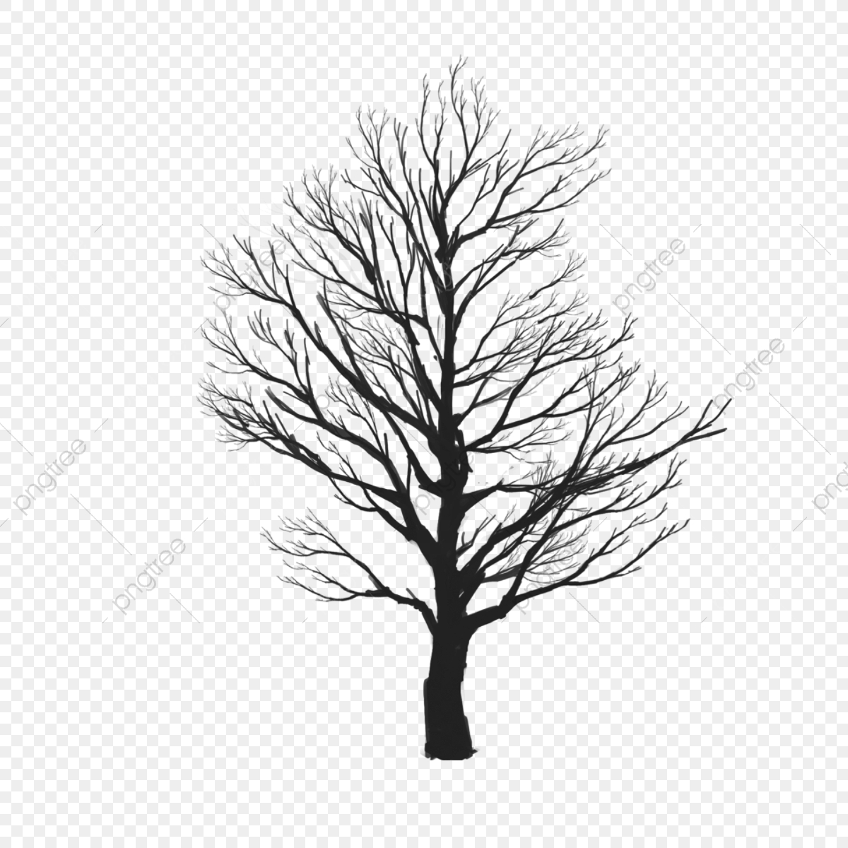 Tree Vector Clipart, Tree Clipart, Tree Png Vector PNG ... svg black and white stock