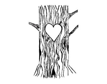 Tree clipart with hearts clipart black and white library Tree wtih hearts clipart - ClipartFox clipart black and white library