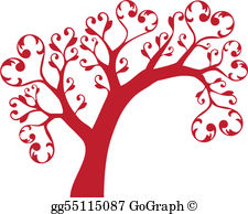 Tree clipart with hearts banner library stock Vector Illustration - Tree hands and hearts figures logo. Stock ... banner library stock