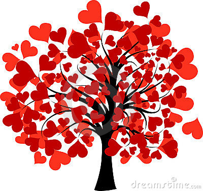Tree clipart with hearts jpg free library Valentines tree clipart - ClipartFest jpg free library