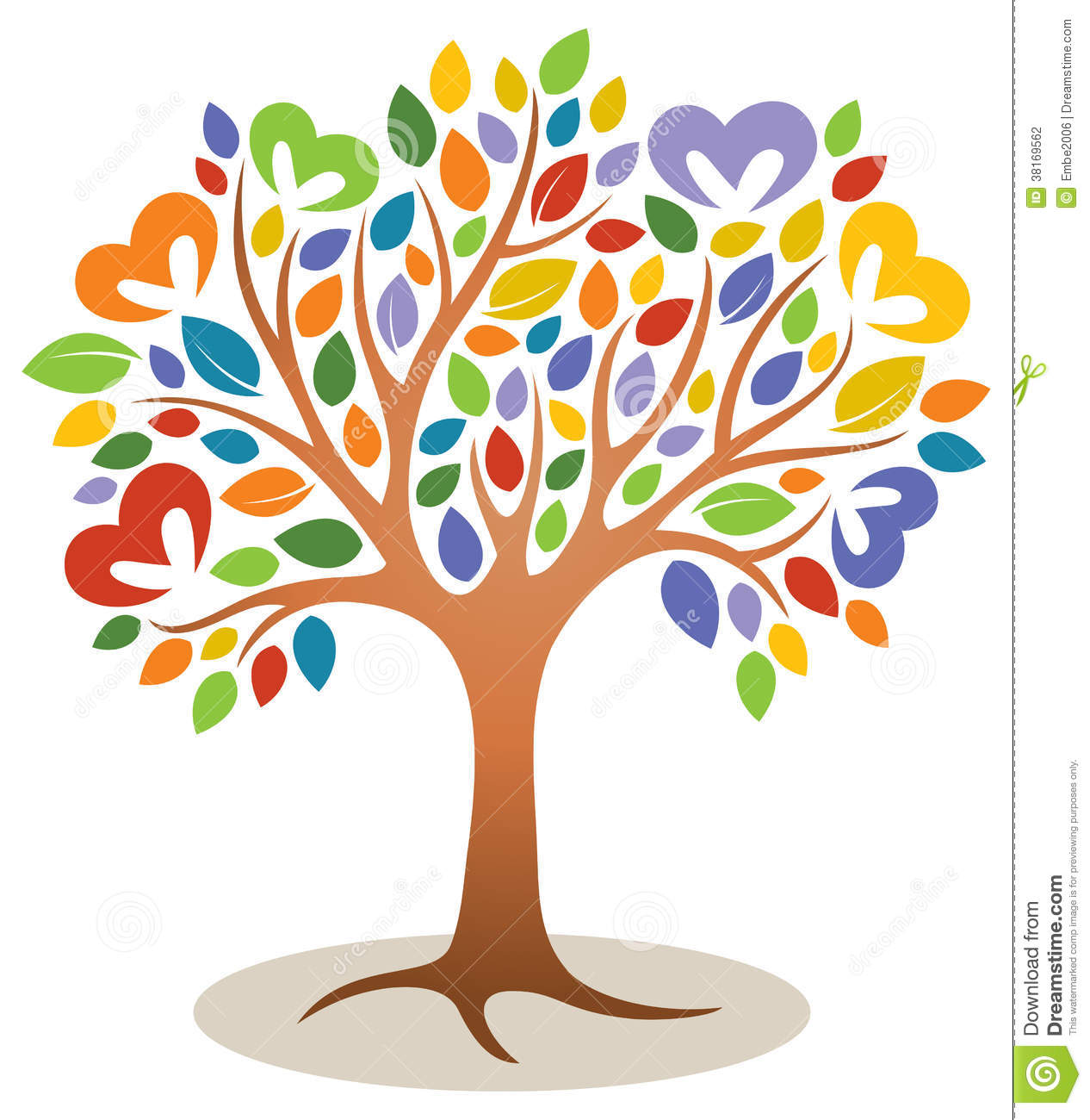 Tree clipart with hearts jpg royalty free library Free heart tree clipart - ClipartNinja jpg royalty free library