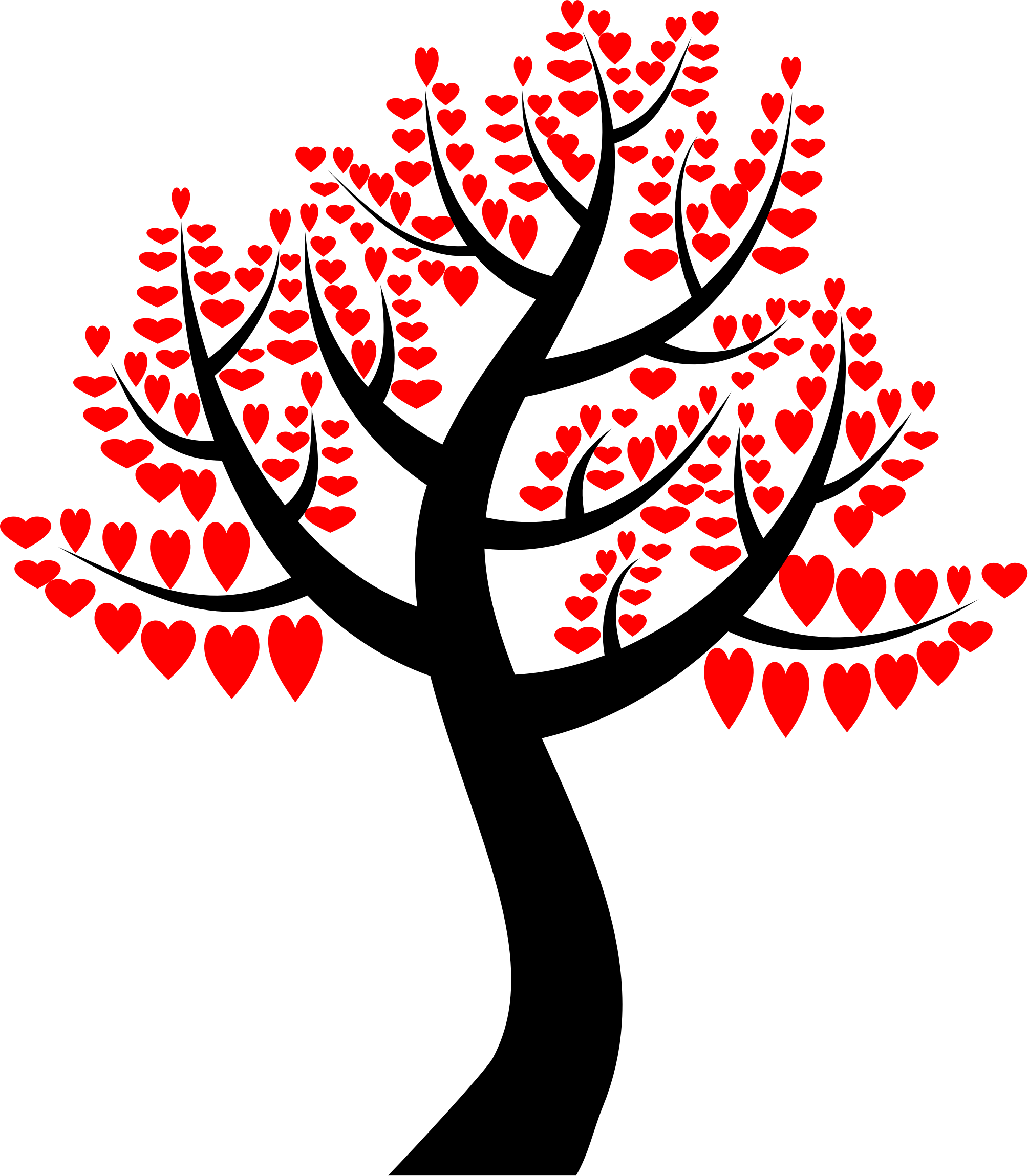 Tree clipart with hearts png free stock Clipart - Simple Hearts Tree png free stock